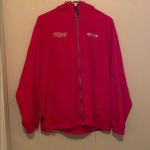 Red jones beach rain coat.